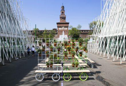 Giardino urbano su ruote