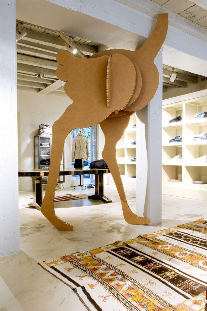 Macro fauna in uno showroom