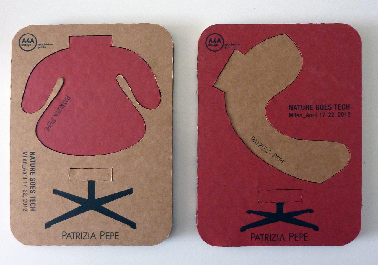 Icone design in cartone colorato