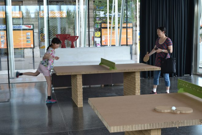 Eco torneo di ping-pong