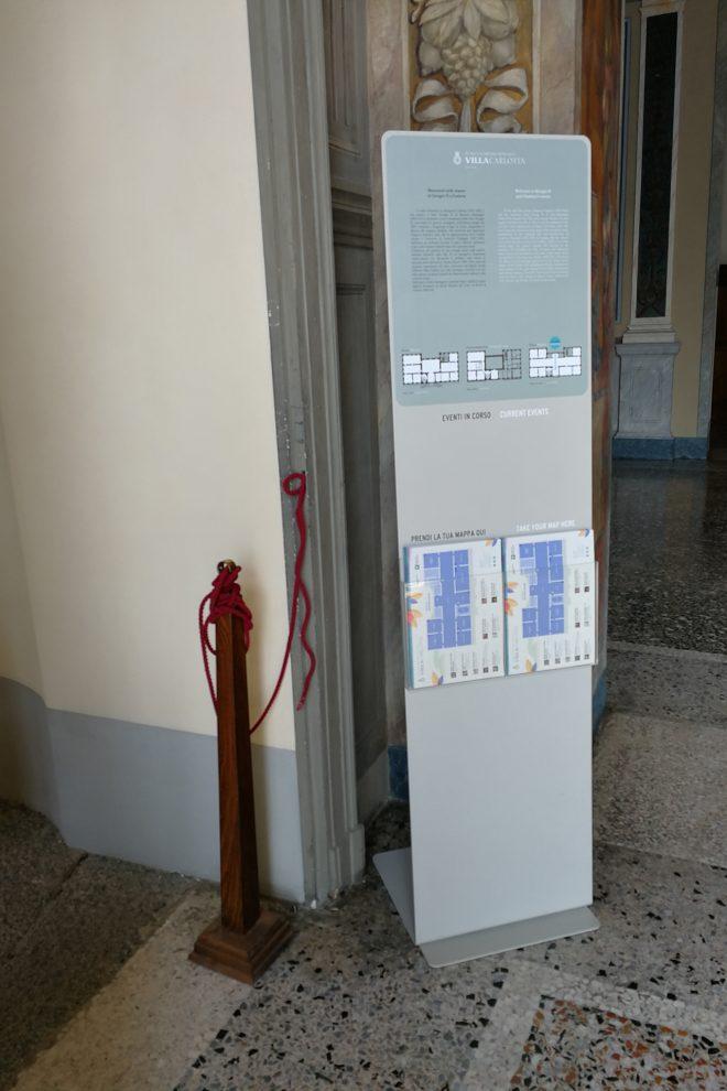 Progetto di segnaletica a Villa Carlotta