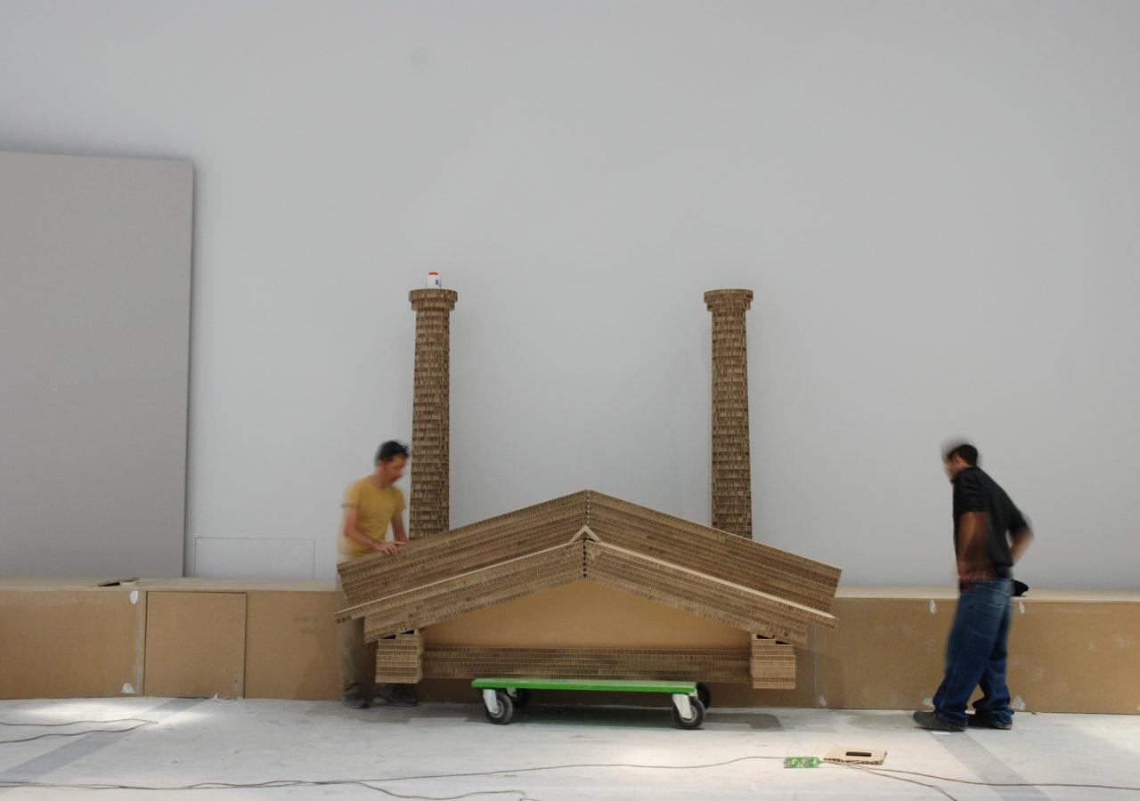 tempio in cartone